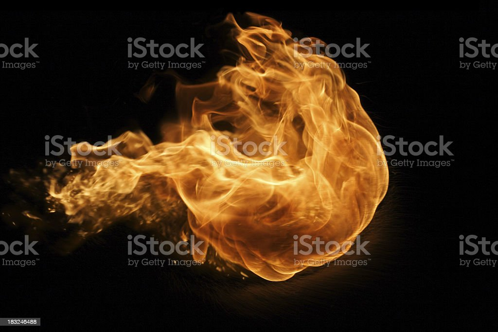 Fire Ball Series stock photo