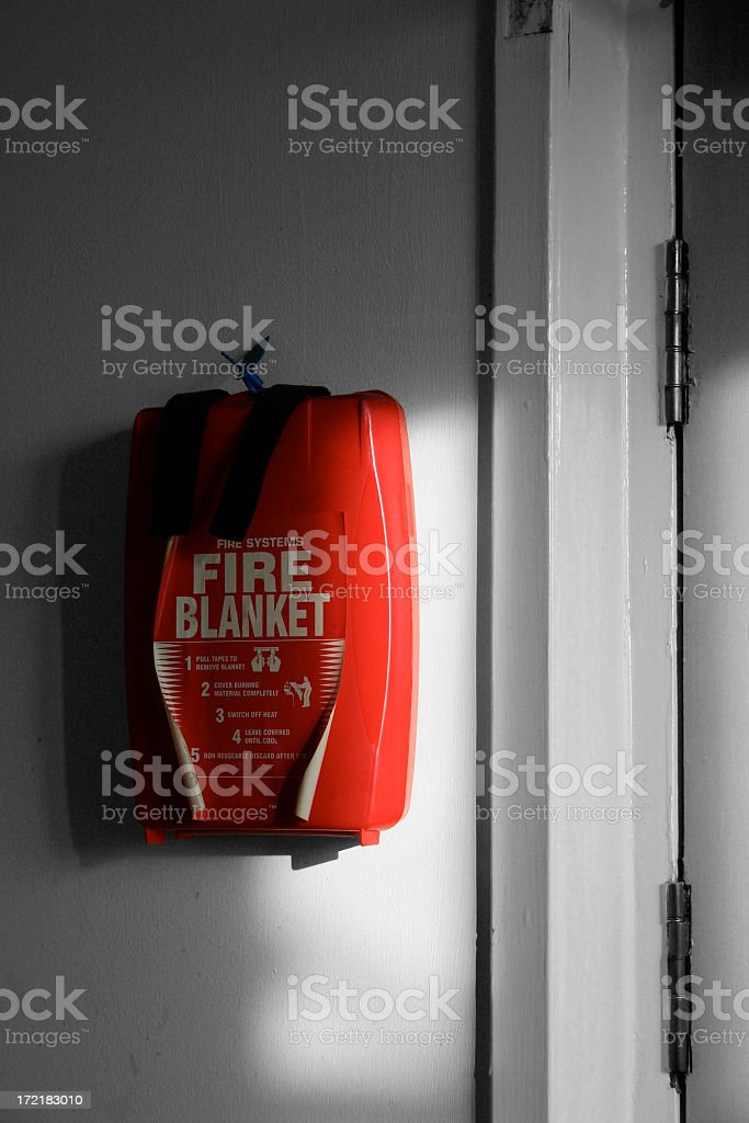 Fire Blanket in case of emergency royalty-free stock photo