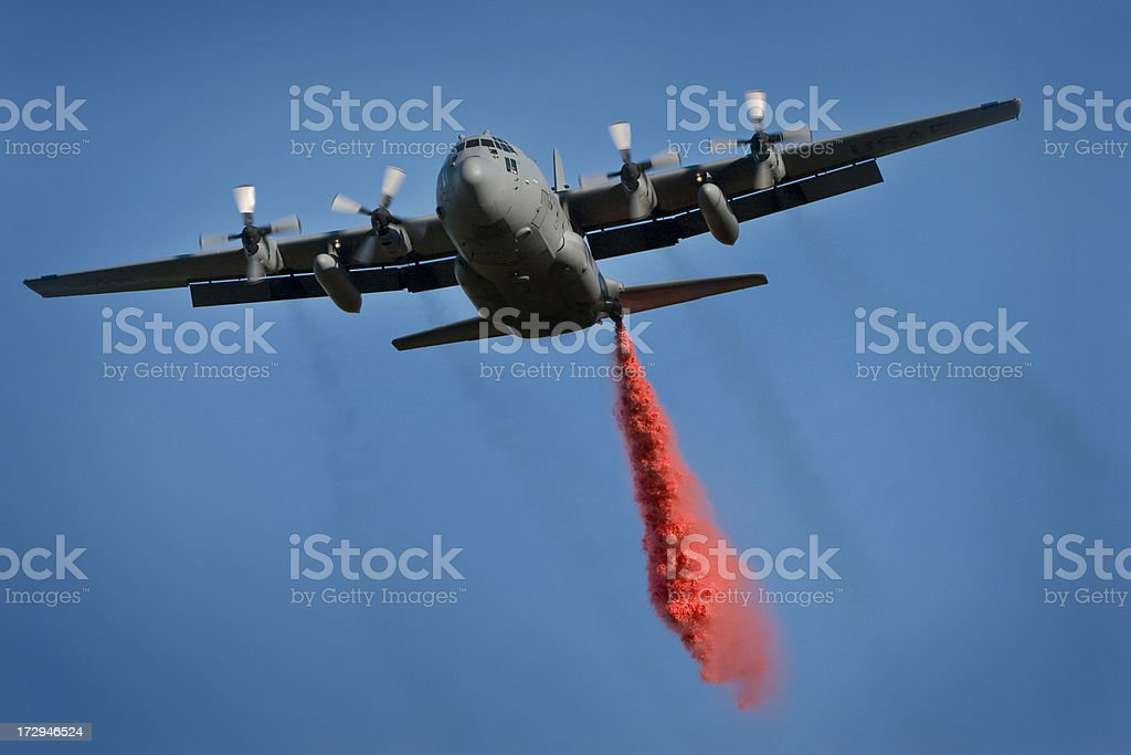 Fire Bomber stock photo