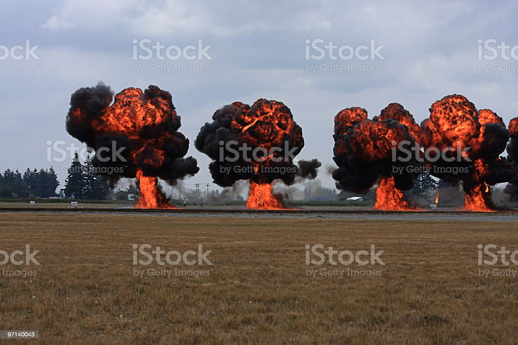 Fire Bombs royalty-free stock photo