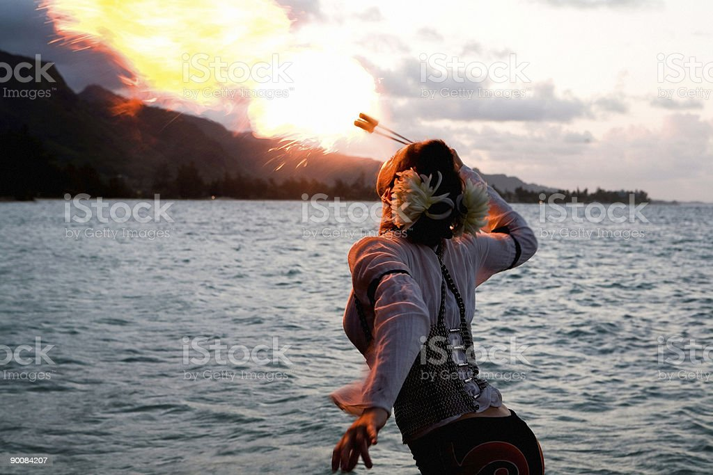Fire Breather - Rear View royalty-free stock photo