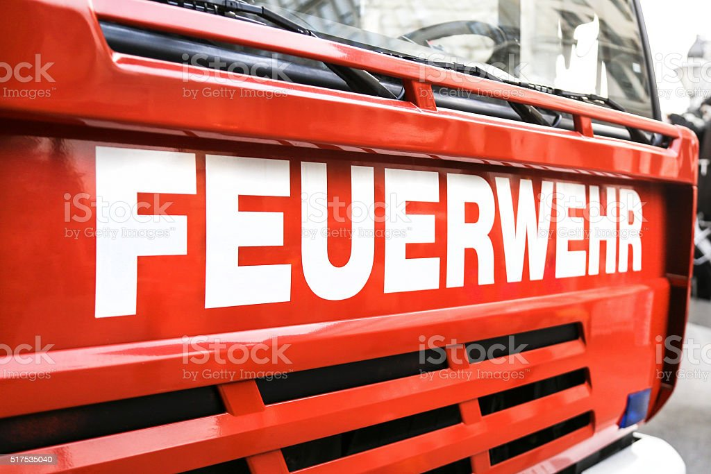 Feuerwehr stock photo