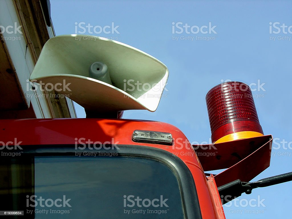 Fire brigade van stock photo