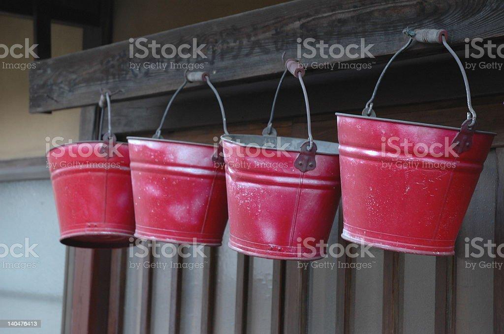 Fire Buckets, Japan royalty-free stock photo