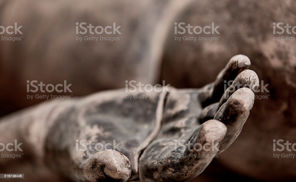 Fire Burned Hand Mannequin Training EMS Dummy Closeup stock photo