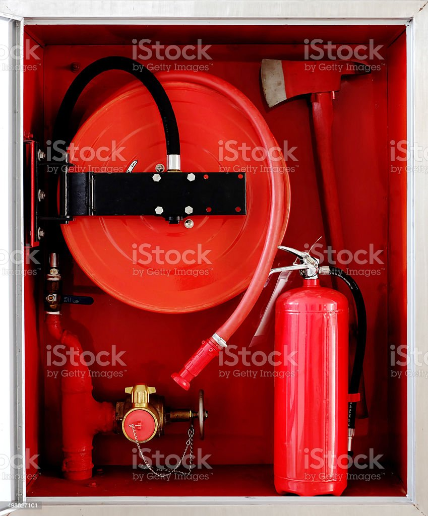 fire cabinet stock photo