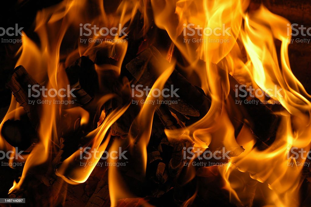 fire, campfire royalty-free stock photo