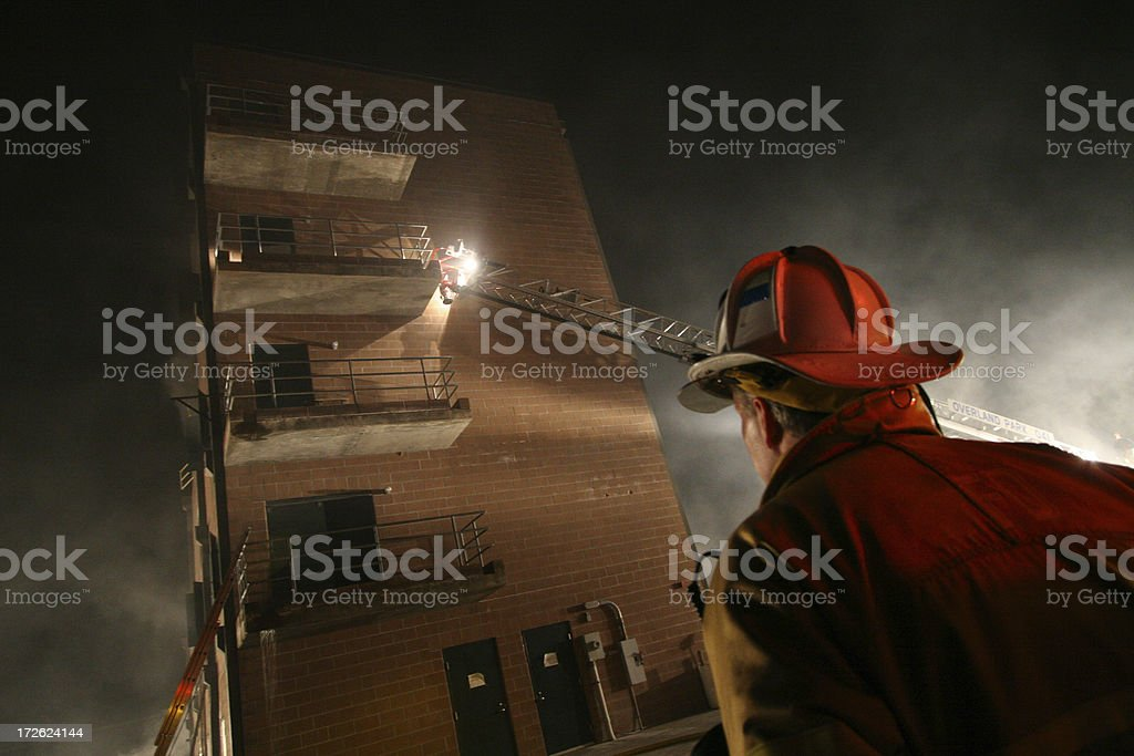 Fire captain stock photo