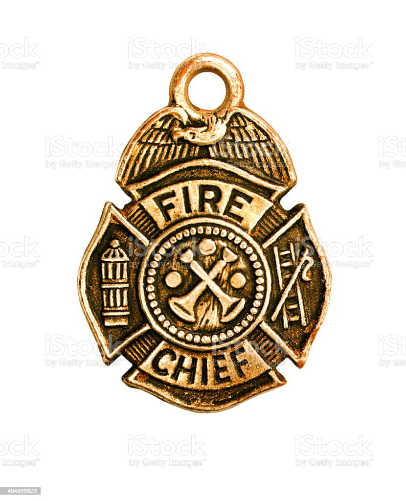 Fire Chief Badge stock photo