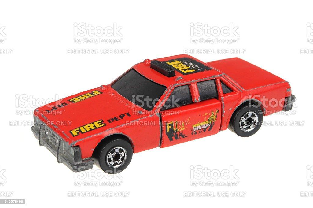1983 Fire Chief Crash Car Hot Wheels Diecast Toy Car stock photo