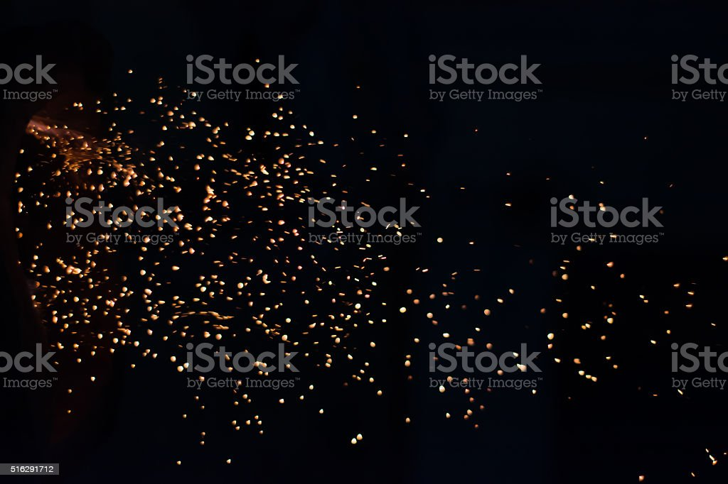 Fire Chrcoal stock photo