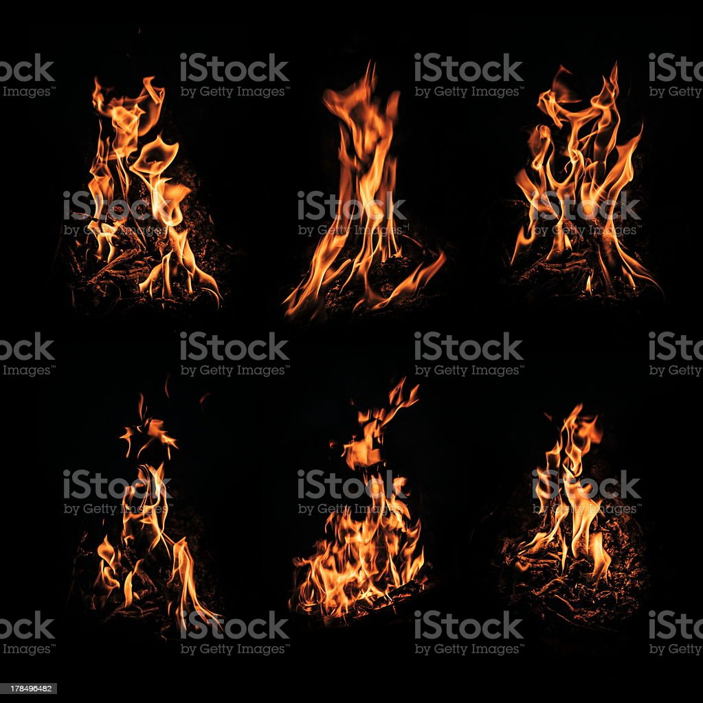 Fire closeup on black royalty-free stock photo