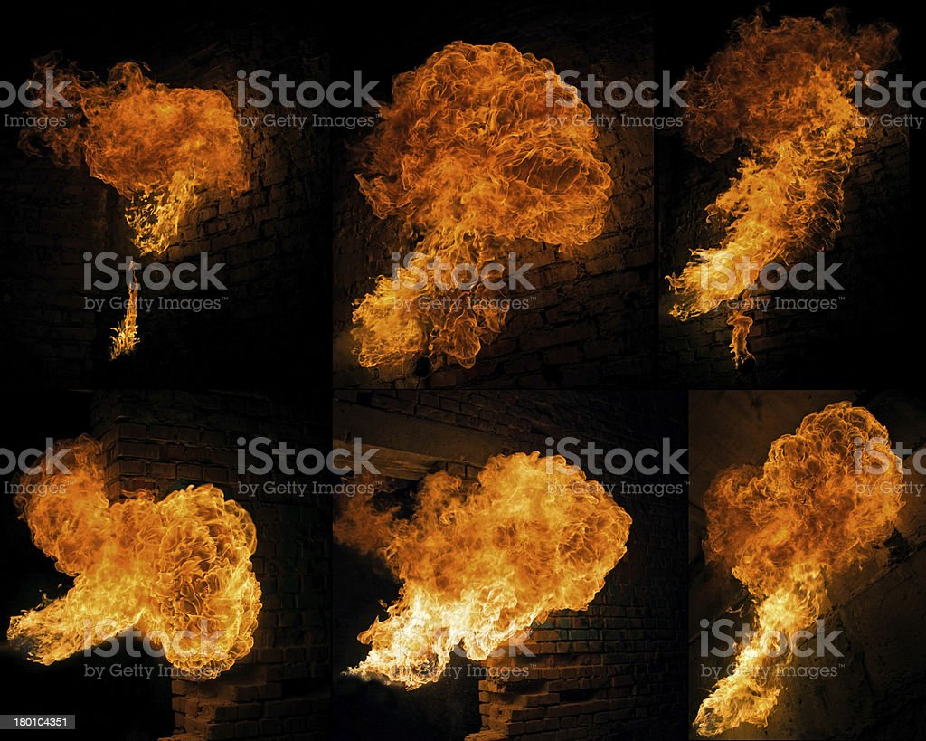 fire collage royalty-free stock photo