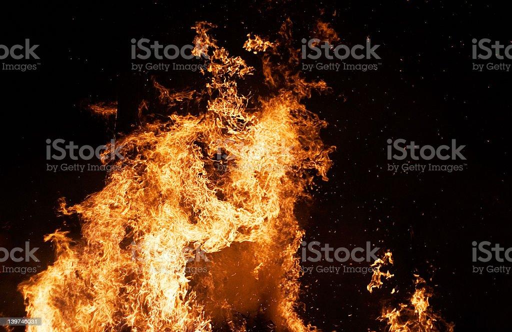 Fire Column stock photo
