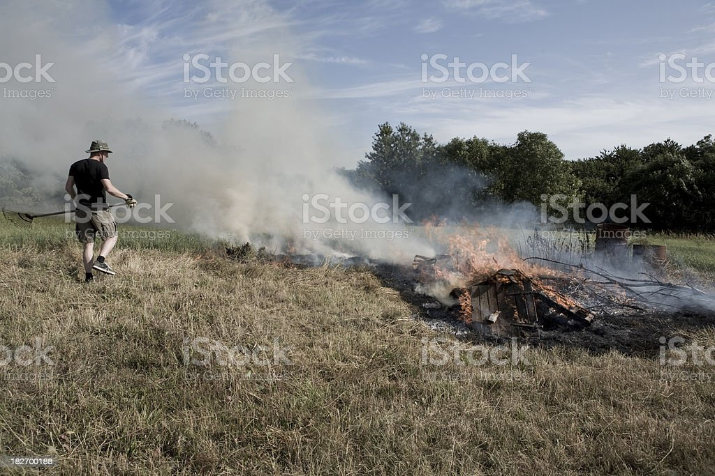 Fire Control royalty-free stock photo
