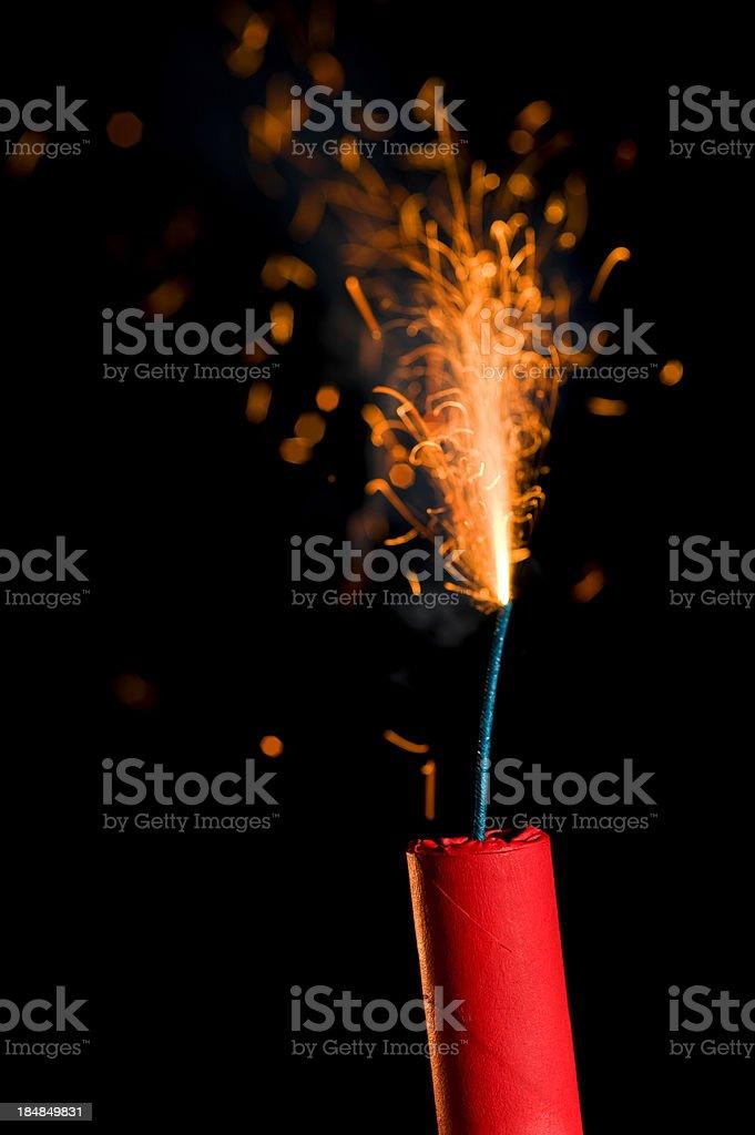 Fire Cracker - Dynamite royalty-free stock photo
