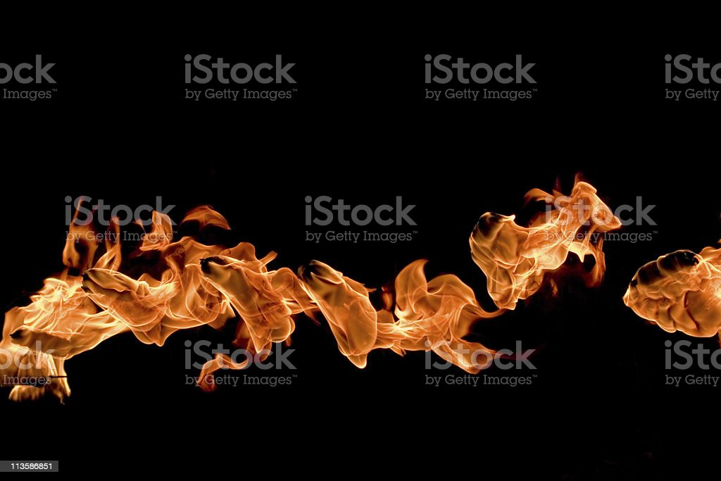Fire curve royalty-free stock photo