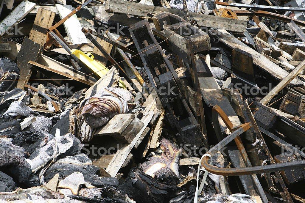 Fire damage royalty-free stock photo