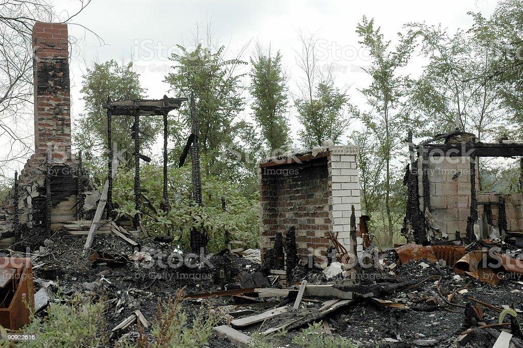 Огонь ущерб Стоковые фото Стоковая фотография