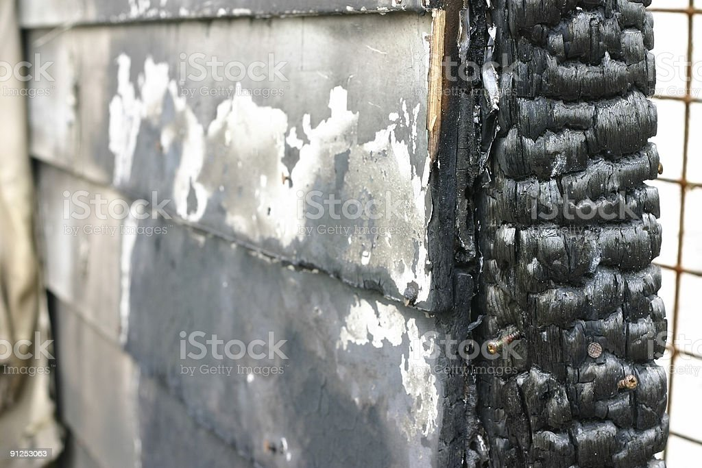 Fire Damage stock photo