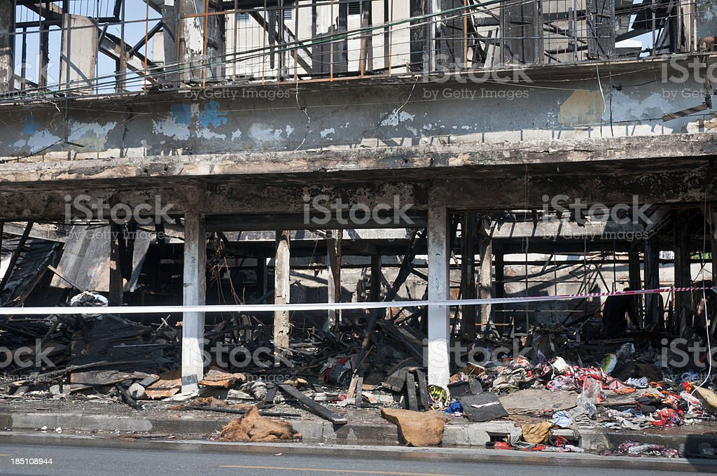 Fire Damaged Building royalty-free stock photo