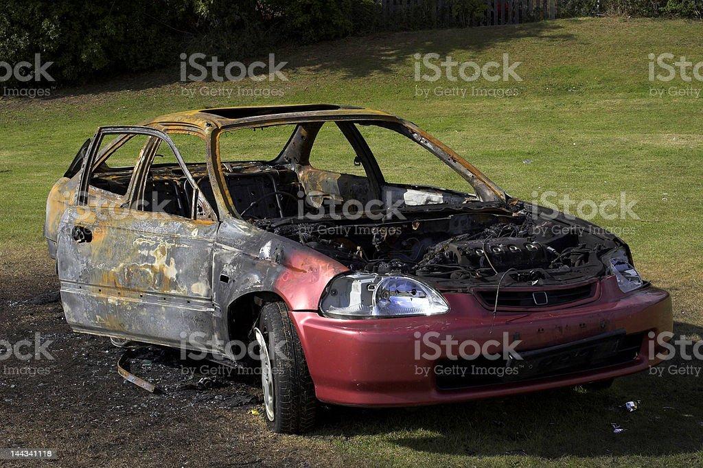 Fire Damaged Car royalty-free stock photo