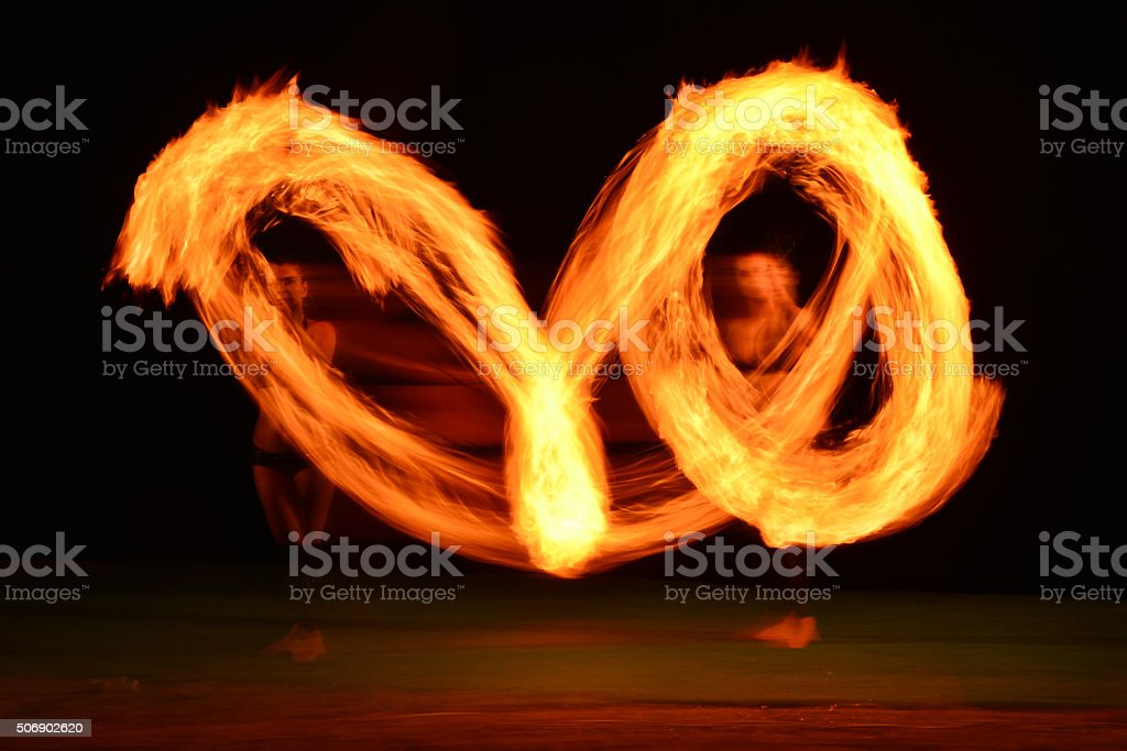 Fire Dance stock photo
