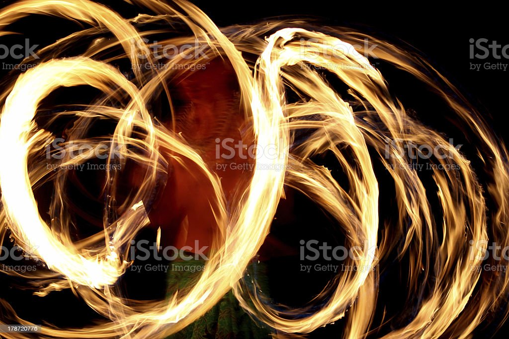 Fire Dancer Abstract stock photo