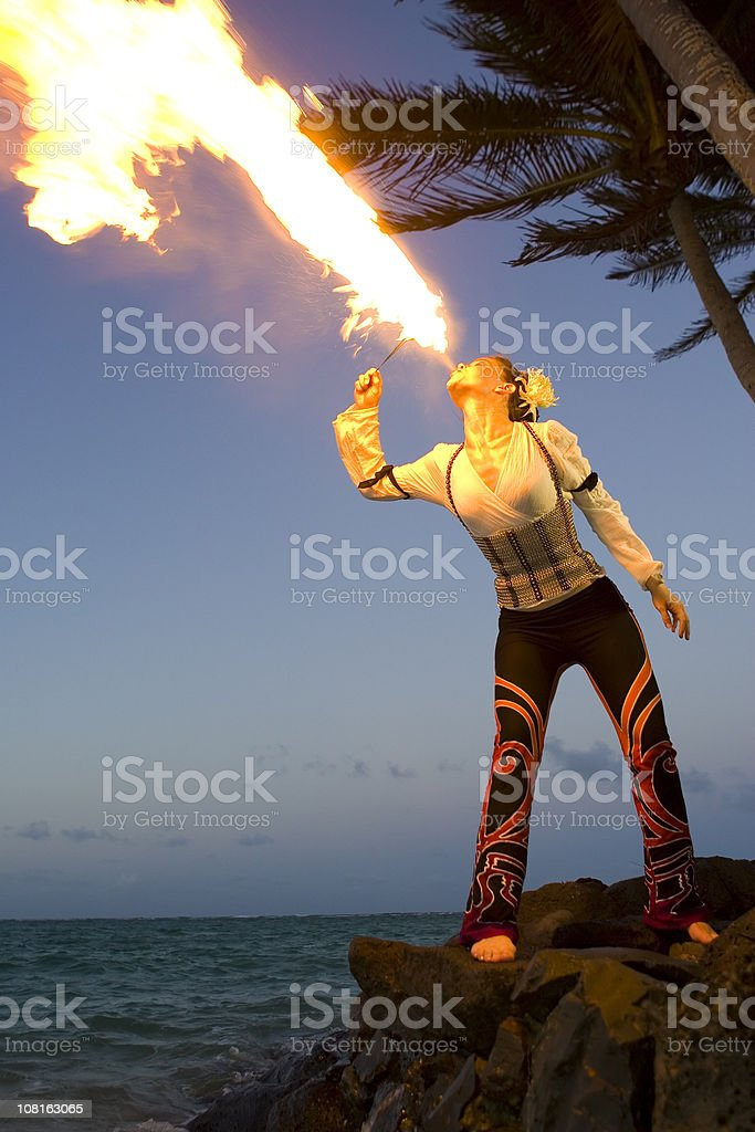 Fire Dancer royalty-free stock photo