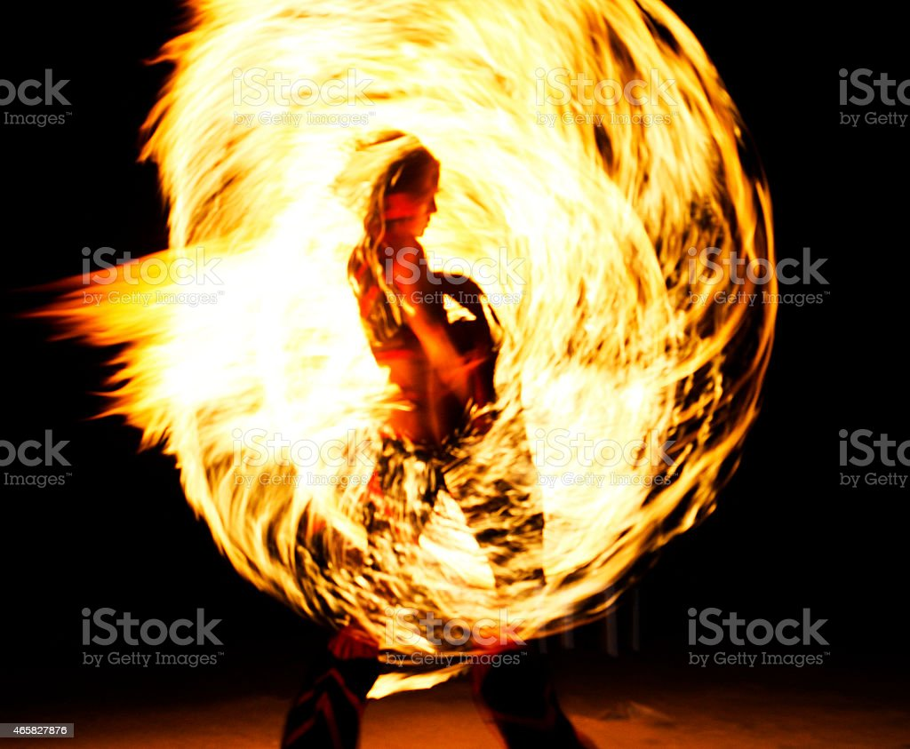 Fire Dancer stock photo