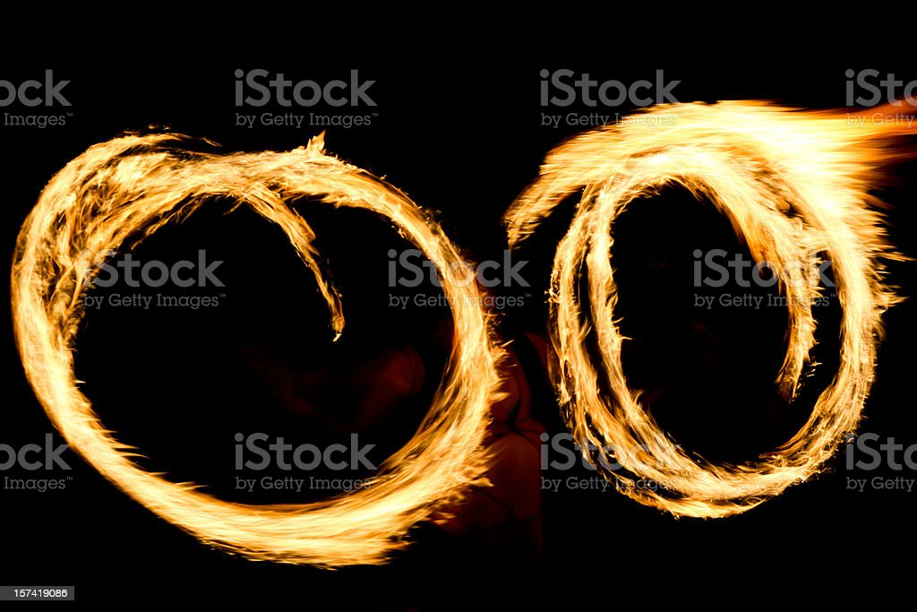 Fire Dancers (Series) royalty-free stock photo