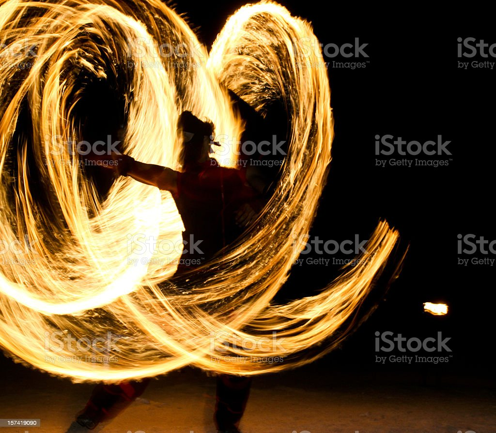 Fire Dancers (Series) stock photo