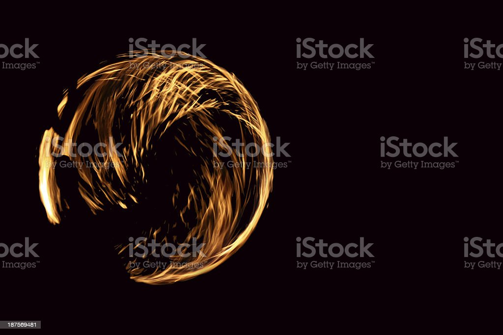 Fire Dancers royalty-free stock photo