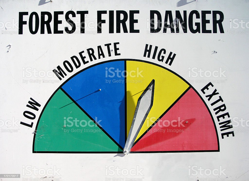 Fire Danger High royalty-free stock photo