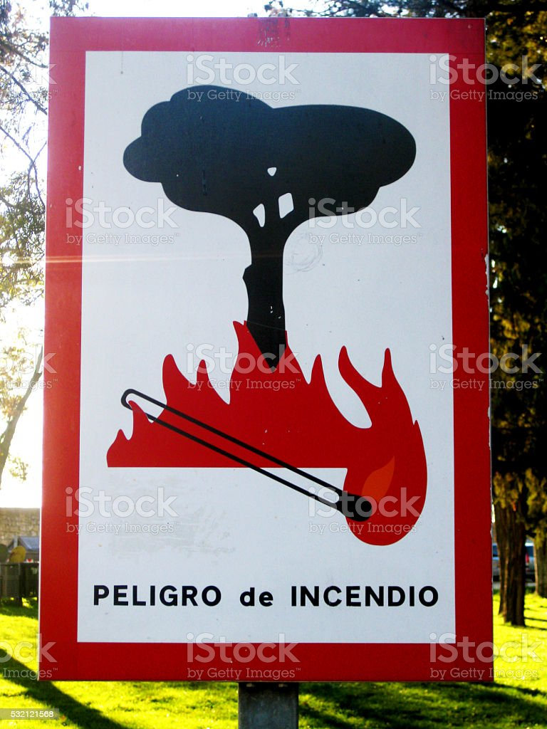 Fire Danger Signal. stock photo
