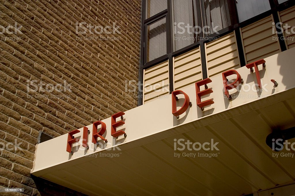 Fire Department royalty-free stock photo