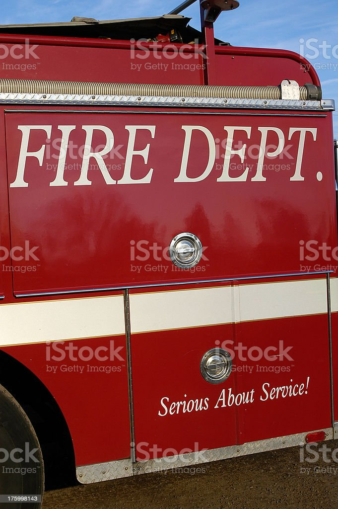 Fire Department Serious About Service royalty-free stock photo