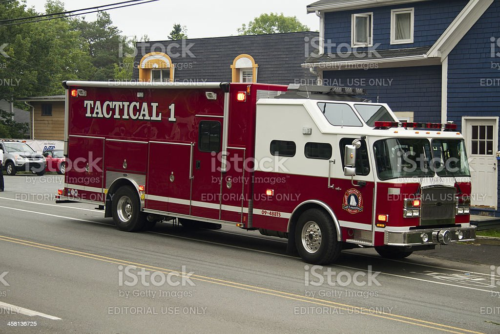 Fire Department Tactical Truck stock photo