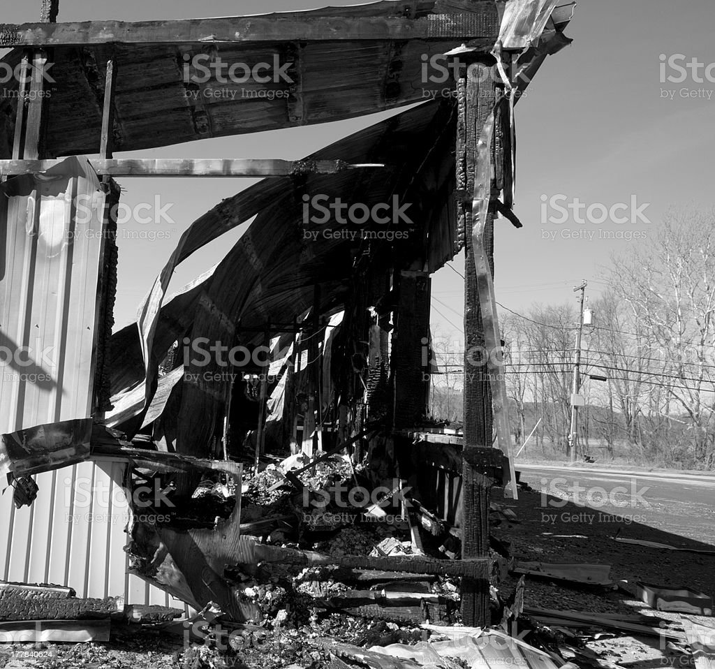 Fire Destruction royalty-free stock photo