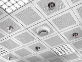 Fire detector and sprinklers
