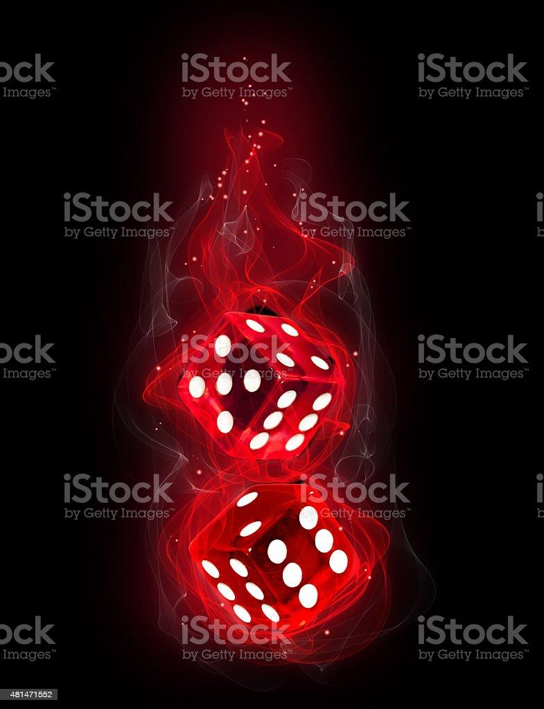 Fire dice stock photo