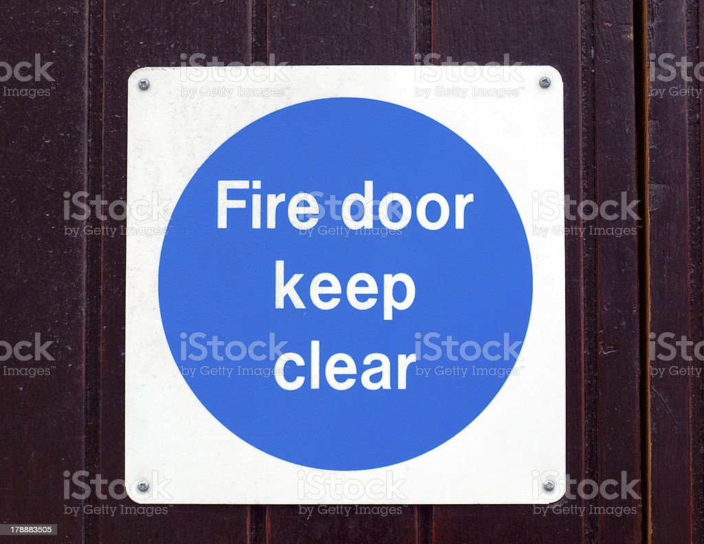 Fire door stock photo