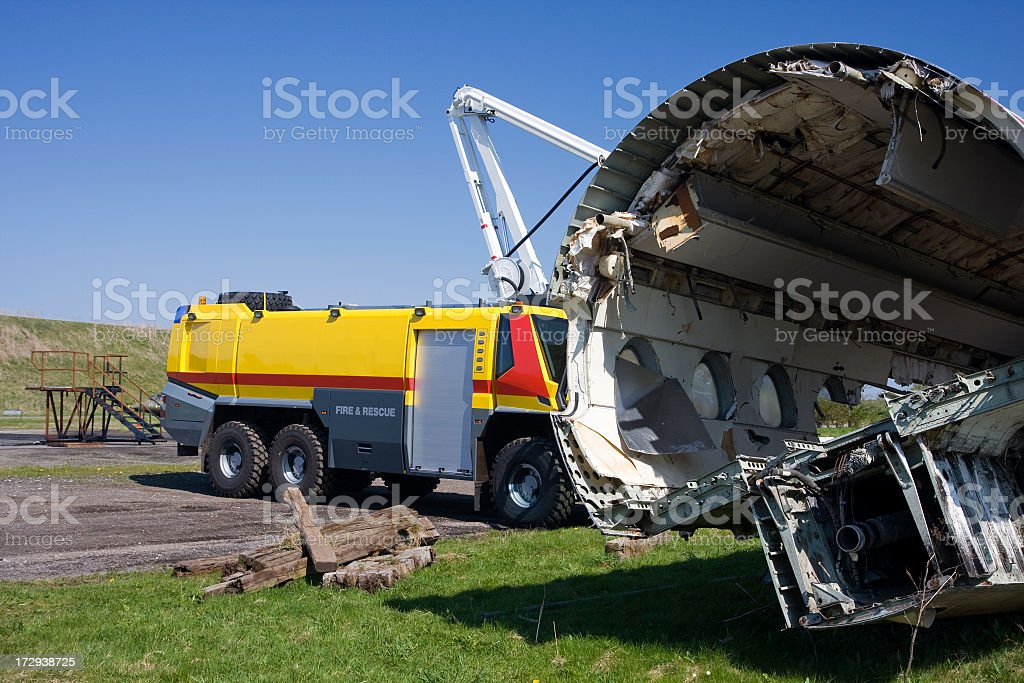 Fire drill in international airport. royalty-free stock photo