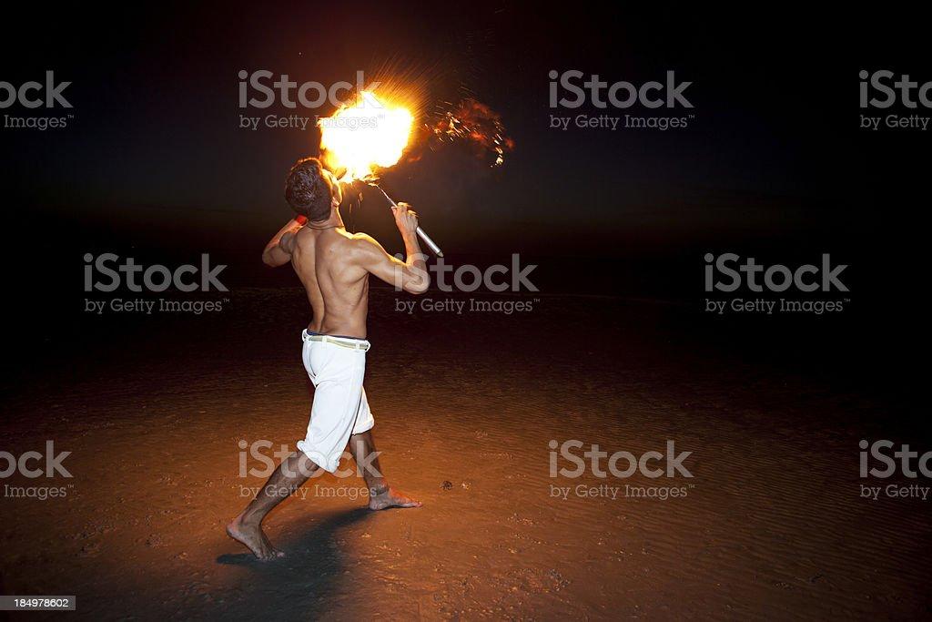Fire Eater, Jericoacoara, Brazil royalty-free stock photo