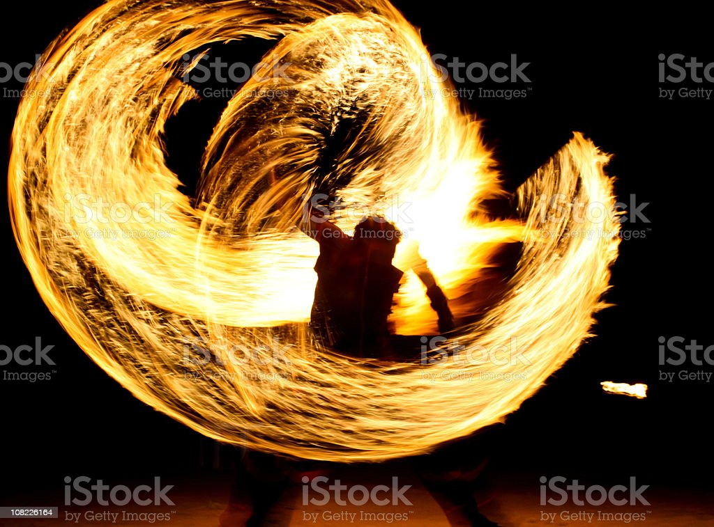Fire eater (Series) stock photo