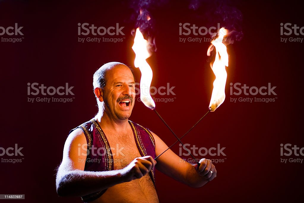 Fire eater royalty-free stock photo