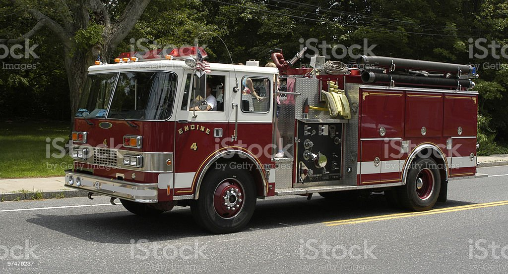 Fire Engine 4 stock photo