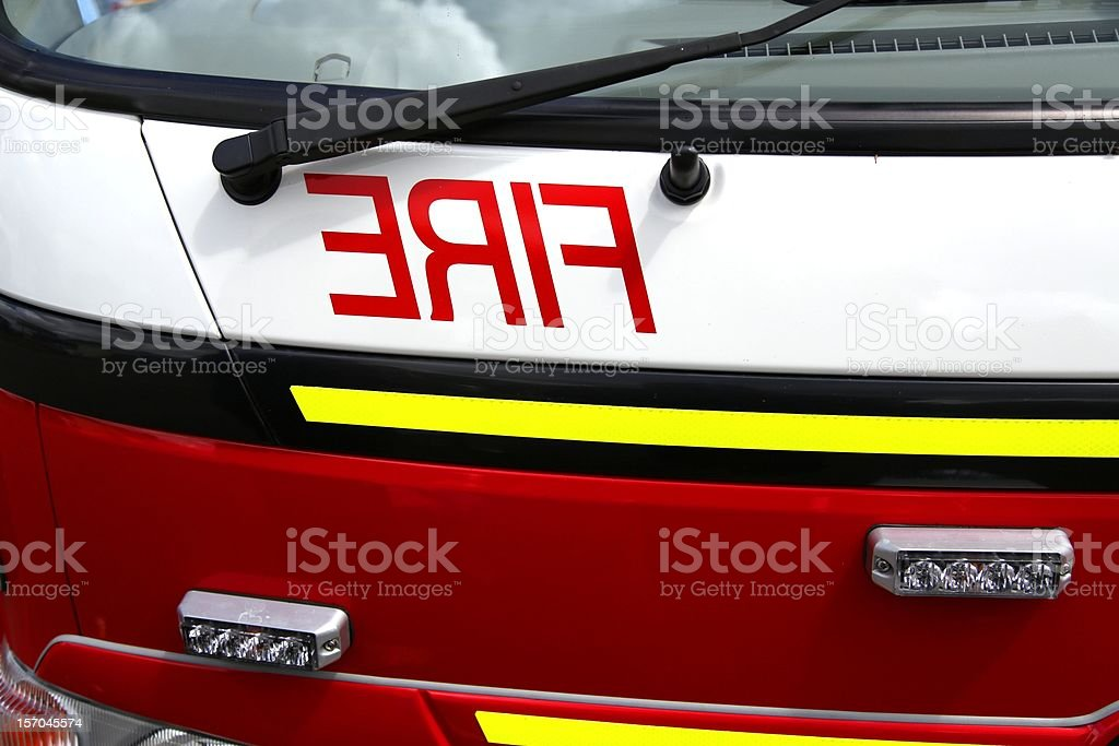Fire engine close up royalty-free stock photo