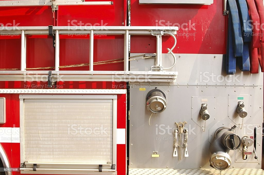 Fire engine - details royalty-free stock photo