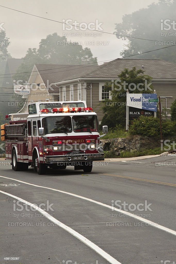Fire Engine Enroute stock photo
